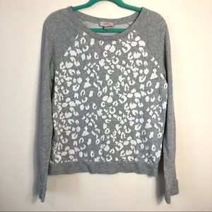 Loft Animal Print Gray Sweatshirt